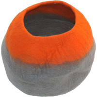 Lollycadoodle Wool Pet Caves in Orange