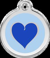 Red Dingo Enamel Tag Silverheart Blue