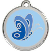 Red Dingo Enamel Butterfly Blue
