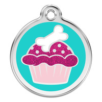 Red Dingo Glitter Cupcake
