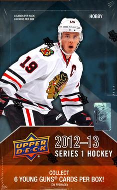2012/13 Upper Deck Series 1 Hockey Hobby Box