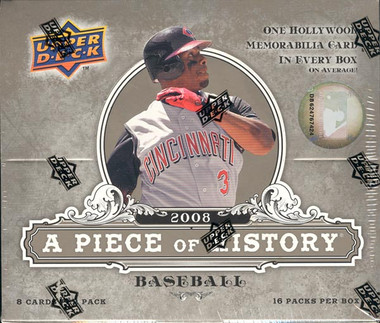2008 Upper Deck A Piece of History Baseball Hobby Box