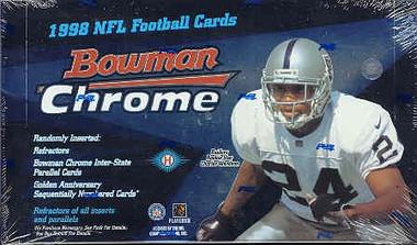 1998 Bowman Chrome Football Hobby Box