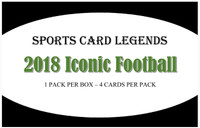 2018 Sports Card Legends Iconic Football Hobby Box