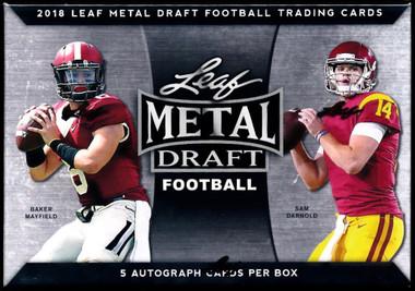 2018 Leaf Metal Draft Football Hobby Box