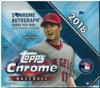 2018 Topps Chrome Baseball Jumbo HTA Hobby Box