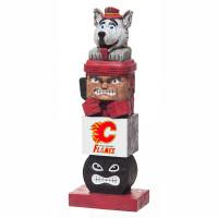 Calgary Flames Tiki Team Totem Garden Statue
