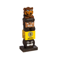 Boston Bruins Tiki Team Totem Garden Statue