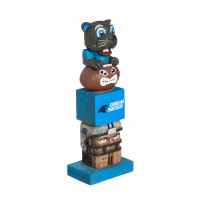 Carolina Panthers Tiki Team Totem Garden Statue