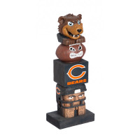 Chicago Bears Tiki Team Totem Garden Statue