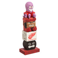 Detroit Red Wings Tiki Team Totem Garden Statue