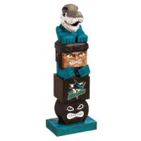 San Jose Sharks Tiki Team Totem Garden Statue