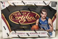 201819 Panini Certified Basketball Hobby Box