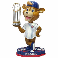 Chicago Cubs Clark Mascot 2016 World Series Champions Bobblehead