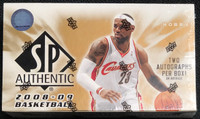 2008/09 Upper Deck SP Authentic Basketball Hobby Box