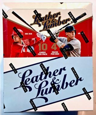 2019 Panini Leather and Lumber Baseball Hobby Box