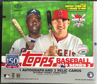 2019 Topps Series 2 Baseball Jumbo Box + 2 Silver Packs