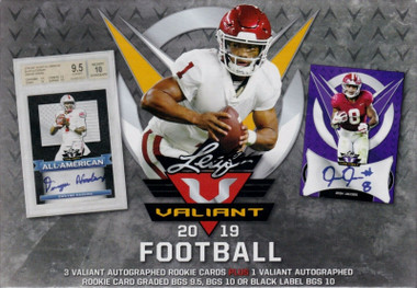 2019 Leaf Valiant Football Hobby Box