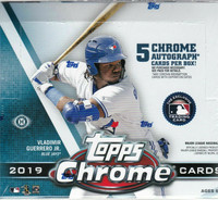 2019 Topps Chrome Baseball Jumbo HTA Hobby Box