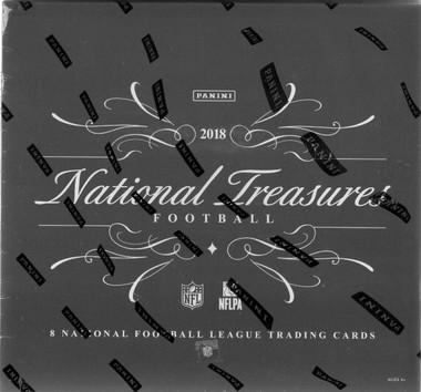 2018 Panini National Treasures Football Hobby 4 Box Case