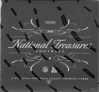 2018 Panini National Treasures Football Hobby 4 Box Case