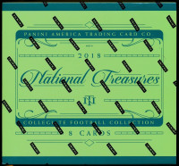 2018 Panini National Treasures Collegiate Football Hobby 4 Box Case