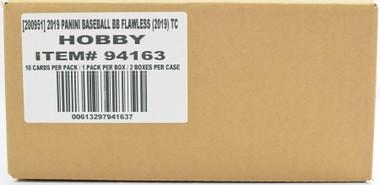 2019 Panini Flawless Baseball Hobby 2 Box Case