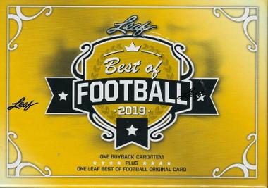 2019 Leaf Best of Football Hobby Box