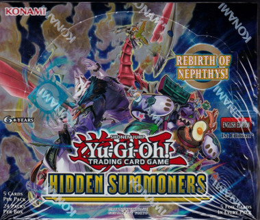 Yugioh Hidden Summoners 1st Edition Booster Box
