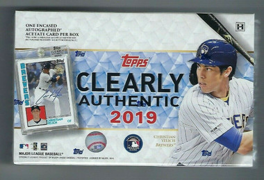 2019 Topps Clearly Authentic Baseball 20 Box Case