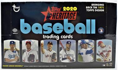 2020 Topps Heritage Baseball Hobby 12 Box Case
