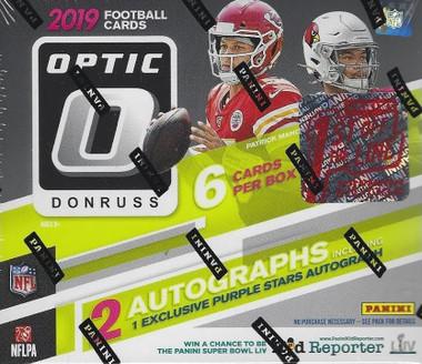 2019 Panini Donruss Optic Football 1st Off The Line Premium Edition Box