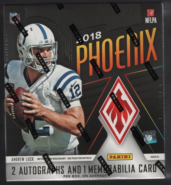 2018 Panini Phoenix Football Hobby 8 Box Case