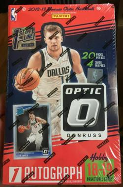 2018/19 Panini Donruss Optic Basketball 1st Off The Line Hobby Box