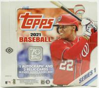 2021 Topps Series 1 Baseball Jumbo 6 Box Case