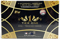 2021 Topps Tier One Baseball Hobby 12 Box Case