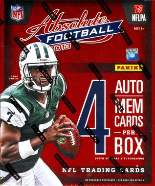 2013 Panini Absolute Memorabilia Football Hobby Box