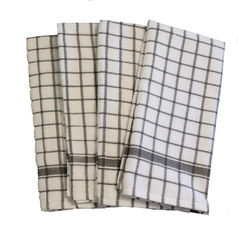 cotton kitchen terry towels grey 4/pack - manadire