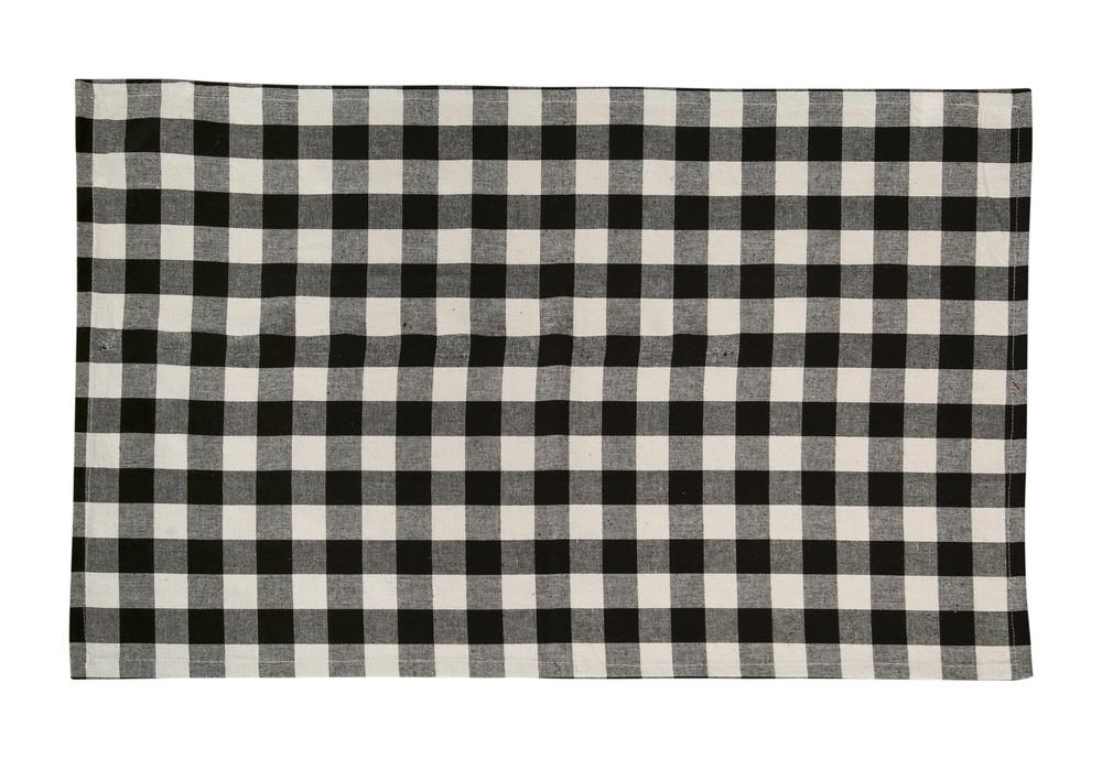 Cotton Kitchen Towels Checkered Black & White 2/pack