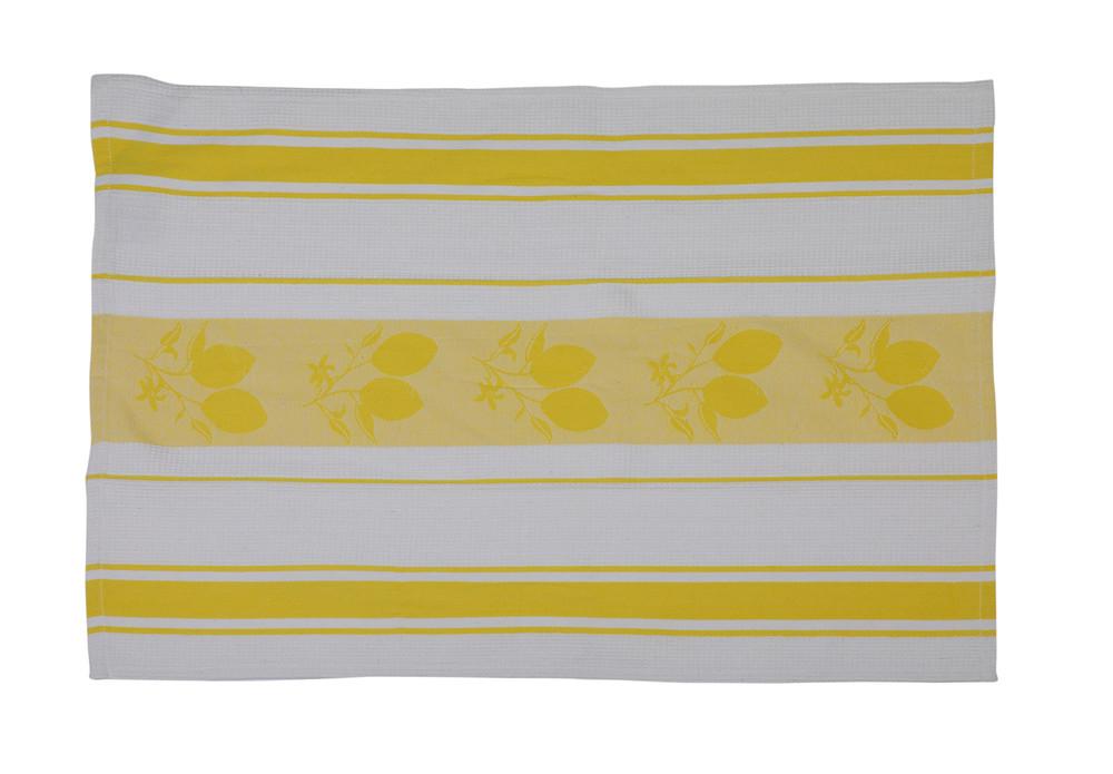 Cotton Kitchen Towel Country Set Yellow