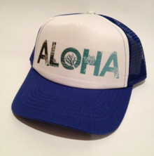Aloha Royal Blue Trucker Hat