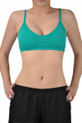 v Neck sports bra front view