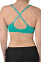 V neck sports bra cross straps view