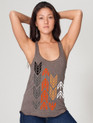Arrows design printed on women's Tri Coffee Racer Back Tank Top