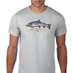 Fish Skeleton Logo T Shirt. Silver Grey