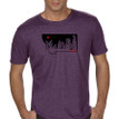 Montana Snow Ghosts T Shirt. Heathered Aubergine Purple