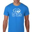 Go Climb a Glacier T Shirt. Royal Blue