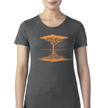 acacia tree women's t shirt