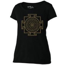 Sri Yantra women's Scoop black T Shirt