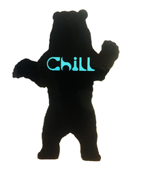 Bear Chill Sticker